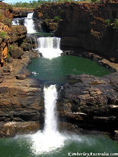 Mitchell Falls, The Kimberley, Western Australia. Western Australia, Australia Travel, Mitchell Falls, Destinations, Fall Pictures, Camping Activities, Cheap Travel, Travel Oz, Travel Deals