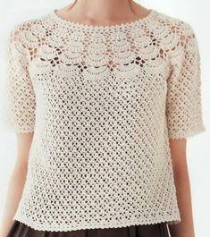 Fabulous Crochet a Little Black Crochet Dress Ideas. Georgeous Crochet a Little Black Crochet Dress Ideas. Pull Crochet, Crochet Yoke, Crochet Shirt, Easy Crochet, Crochet Stitches, Crochet Bodycon Dresses, Black Crochet Dress, Knitting Patterns, Crochet Patterns