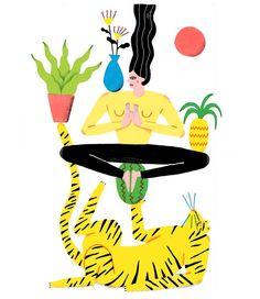 "244 Likes, 10 Comments - Popy Matigot (@popymatigot) on Instagram: "" #yoga #yogachallenge #yogagram #yoguiste #tiger #fruit #pineapple #plantpower #plant #flowers…"""
