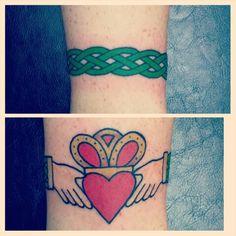 Irish tattoo. Claddagh tattoo. Celtic knots. Ankle tattoo. Chicago Tattoo Orlando FL
