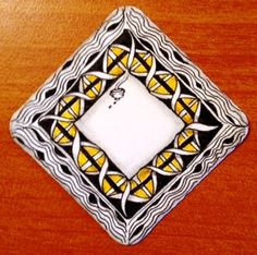 Zentangle using Diva Dance by Shelly Beauch