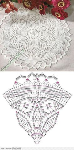 Breathtaking Crochet So You Can Comprehend Patterns Ideas. Stupefying Crochet So You Can Comprehend Patterns Ideas. Filet Crochet, Crochet Doily Diagram, Crochet Flower Patterns, Crochet Chart, Love Crochet, Irish Crochet, Crochet Motif, Knitting Patterns, Crochet Home