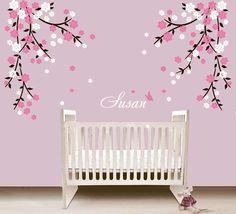 Flower Wall Decal Nursery Wall Sticker blossom by ArtHomeDecals, $82.00