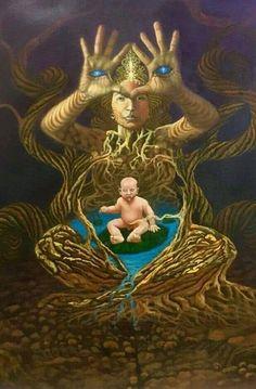 Spiritual Images, Psy Art, Spirited Art, Mystique, Airbrush Art, Hippie Art, Pop Surrealism, Visionary Art, Sacred Art