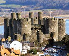 Castelo de Conwy, País de Gales.