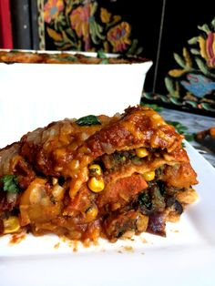 Vegan Butternut Squash Black Bean Enchilada Casserole With Homemade Red Enchilada Sauce