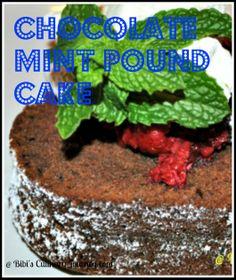 Mint Chocolate Pound Cake adapted from Paula Deen's recipe  #chocolate #pound cake # mint chocolate pound cake