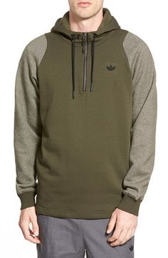 adidas Originals 'Sport Luxe' Quarter Zip Hoodie available at #Nordstrom