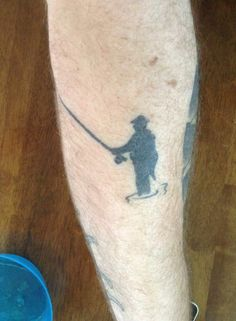 Check out this great fly fisherman tattoo on one of our awesome fans, Nick Donovan from Trenton, Ontario.