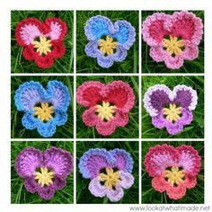 Grannys Crochet Pansy Grannys Crochet Pansy...thanks for sharing this free pattern!