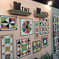 Gorgeous mini quilts from Autumn Quilt Market - highlighting a new book, Mini Mania by Abbey Road Quilts