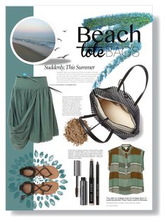 """Beach Tote Bags ⛱"" by tina-miholic ❤ liked on Polyvore featuring Manic Panic NYC, Moon Juice, Loeffler Randall, Billabong, AllSaints, Monki, Bobbi Brown Cosmetics and beachtotes"