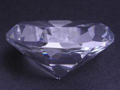 Mały diament kryształowy - bezbarwny - Feng Shui