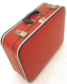 Vintage Hard Suitcase Overnight Weekend Case Retro Travel Luggage ...