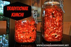 How to make Traditional Korean Kimchi - this one is the REAL deal so I encourage you to try it if you seriously love kimchi via Homemade Mom... Asian Recipes, Real Food Recipes, Cooking Recipes, Yummy Food, Tasty, Korean Dishes, Korean Food, Kombucha, Superfood