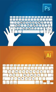 Adobe Photoshop and Illustrator short keys.