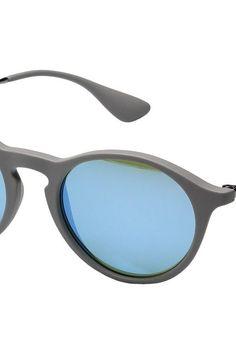 Ray-Ban 0RB4243 49mm (Grey/Green) Fashion Sunglasses - Ray-Ban, 0RB4243 49mm, 0RB4243-6262B449, Eyewear Fashion General, Fashion Eyewear, Fashion, Eyewear, Gift, - Street Fashion And Style Ideas
