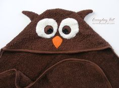Owl Towel! Hooded Towel Pattern - Bear, Deer, Owl (Forest Animals). $4.50, via Etsy.