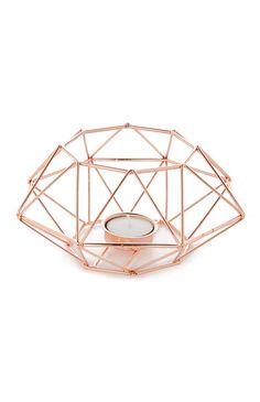 Primark - Rose Gold Wire Candle Holder