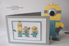 Tutorial to make minions  from Stampin' Up! UK Demonstrator Abi Bundy