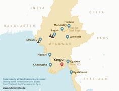 Myanmar backpacking map