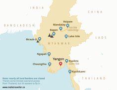 Myanmar backpacking map // leuke info