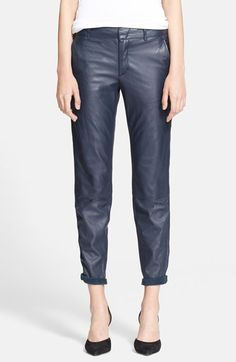 Vince 'Strapping' Lambskin Leather Trousers   Nordstrom