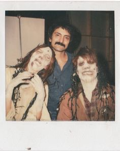 Ted Danson, Gaylen Ross, and Tom Savini in Creepshow Horror Icons, Horror Art, Horror Movies, Tom Savini, Makeup Masters, George Romero, Community Events, Cinema, Movies Showing