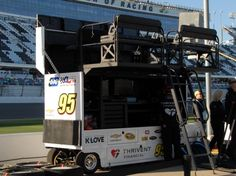 2016 Sprint Cup Series pit boxes Wednesday, March 9, 2016 No. 95 Michael McDowell
