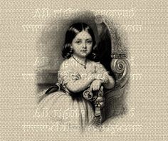 Antique Franch Paris LITTLE GIRL - Large Single Image - Digital Printable to print on Fabric, Iron On Transfer for Tote Bags Pillows by ChikUna on Etsy