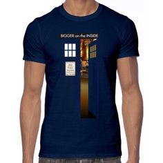 T-Shirt - Doctor Who's Tardis. Sooo cool it looks bigger on the inside!!!