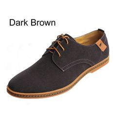 men shoes mens casual shoes fashion big 38-48 Suede Synthetic Leather Shoes men Oxfords loafers lace-up Man Rubber outsole