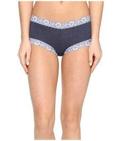Hanky Panky Heather Jersey Boyshorts (Chambray/White) Women's Underwear