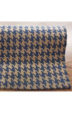 New Casuals Solid & Striped Blue Brown Hand Woven Area Rug Carpet Jute