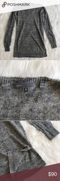 Vince Linen v-neck sweater Grey Vince like new 100% linen sweater Vince Sweaters V-Necks