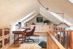 Slate Countertop, Four Square Homes, Wimborne White, New England Style, Amazing Spaces, Mid Century Design, Home Office, Attic Office, Office Nook