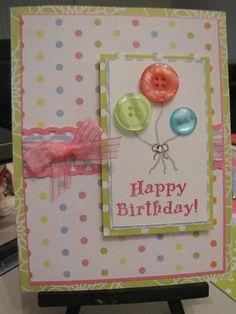 Creative Ideas For Handmade Birthday Cards 3 Ways To Make Fancy Birthday Cards Wikihow. Creative Ideas For Handmade Birthday Cards Creative Ideas For . Homemade Birthday Cards, Girl Birthday Cards, Bday Cards, Homemade Cards, Children Birthday Cards, Car Birthday, Balloon Birthday, Tarjetas Diy, Button Cards