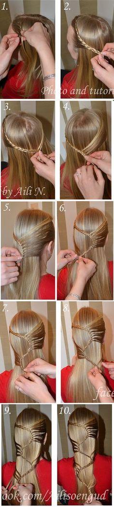 peinado el pelo largo