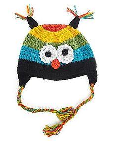 Designer Owl Cap - Multicolour http://www.firstcry.com/mayra-knits/designer-owl-cap-multicolour/685227/product-detail