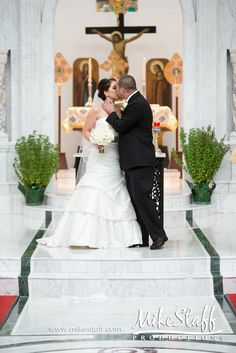 1st kiss as a married couple