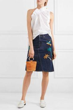21ea439b97 7 Best Button front denim skirt images in 2017 | Denim skirts, Denim ...