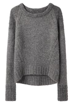 I love how flattering this sweater is with its dip down in the back.  Bi-Knit Sweater by VPL    $295.00