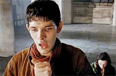 Okay, so, are we not even going to talk about the fact that Merlin almost killed himself just to avoid killing Morgana? (gif set) <--- DANGIT