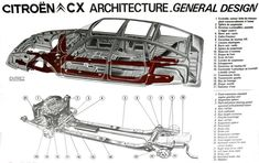 Citroen CX frame and body transparency