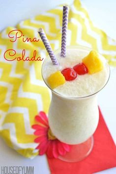 This virgin Pina Colada is only 3 ingredients and 5 minutes to make! Perfect refreshing drink for everyone to enjoy!