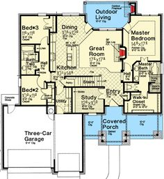 Plan 48530FM: Exclusive One Story European House Plan