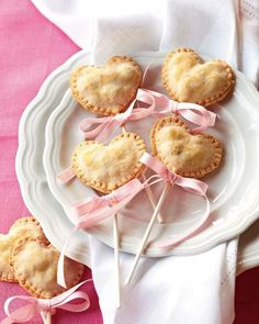 Heart-shaped cherry pie pops -- way better than the usual box of chocolates.