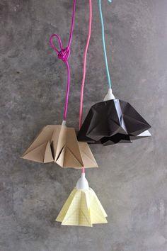 DIY: Beautiful Origami Lamp! | Art And Chic