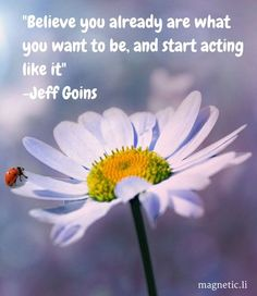 If you believe and start acting as if what you desire is already in your life, the universe will deliver. Click here to to discover how the power of positive thinking can help you. http://magneticlawofattracti
