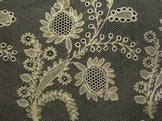 embroidered net panel, Etsy, detail